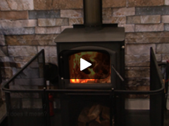 Quadra-fire 31LE Burning Inside