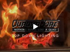 Top down lighting Quadrafire