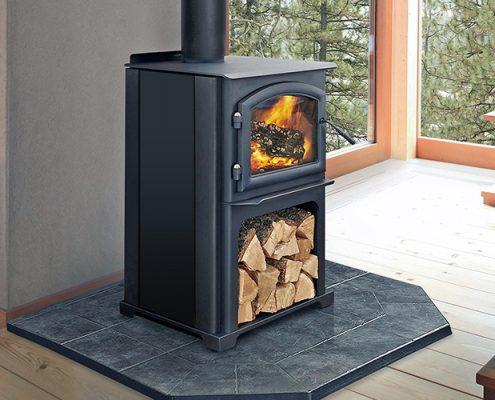 Freestanding Wood Fire Heatilator Wood Fireplace Quadra Fire